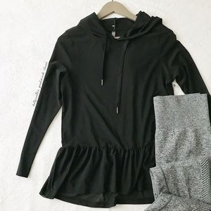 NWT Black Semi Sheer Fitness Top